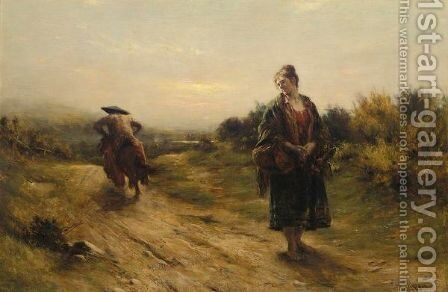 Jeanie Deans And The Laird Of Dumbiedykes by Charles Martin Hardie - Reproduction Oil Painting