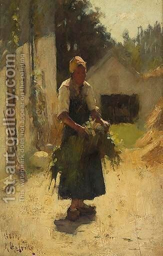 A French Peasant by Arthur Melville - Reproduction Oil Painting