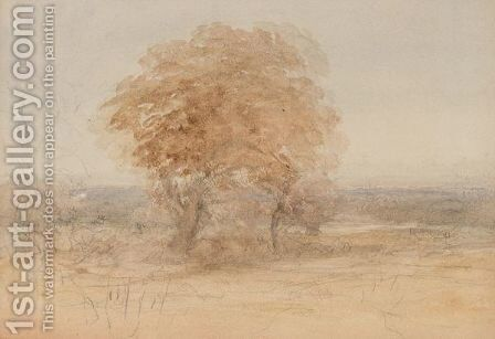 Tree In Landscape by David Cox - Reproduction Oil Painting