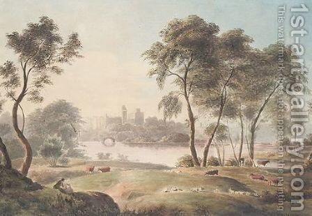 Warwick Castle by (after) William Glover - Reproduction Oil Painting