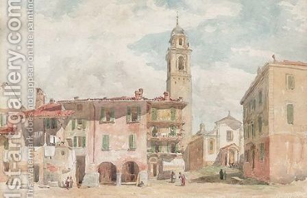 Palanza, Italy by Edward Angelo Goodall - Reproduction Oil Painting