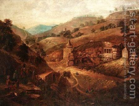 Biblical Landscape by English School - Reproduction Oil Painting