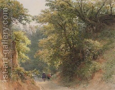 A Walk In The Woods by Charles Grant Davidson - Reproduction Oil Painting