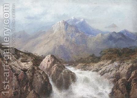 Waterfall In The Romsdall, Norway by Edgar E. West - Reproduction Oil Painting