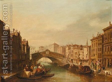 The Grand Canal, Venice by (after) James Holland - Reproduction Oil Painting