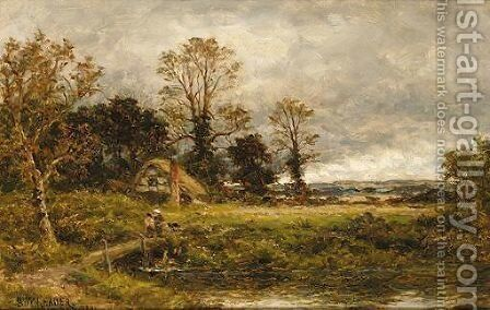 Rural Landscape by Benjamin Williams Leader - Reproduction Oil Painting