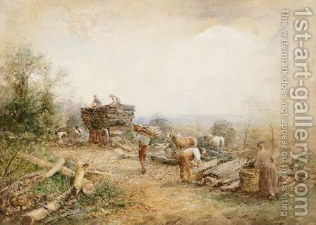 Clearing Away Oak Bank, West Malvern by David Bates - Reproduction Oil Painting
