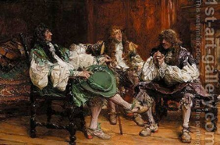 The Comedians by Edgar Bundy - Reproduction Oil Painting