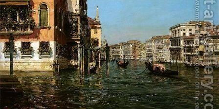 The Grand Canal, Venice by Bernardo Hay - Reproduction Oil Painting