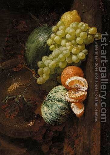 Still Life Of Fruit On A Table by Eleanor Stuart Wood - Reproduction Oil Painting