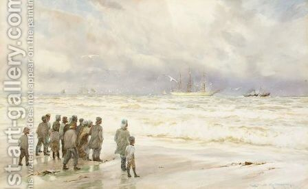 Disabled by Charles Mottram - Reproduction Oil Painting