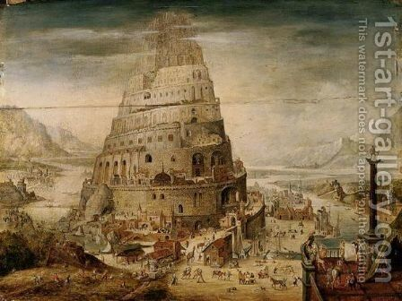 The Tower Of Babel 3 by (after) Abel Grimmer - Reproduction Oil Painting