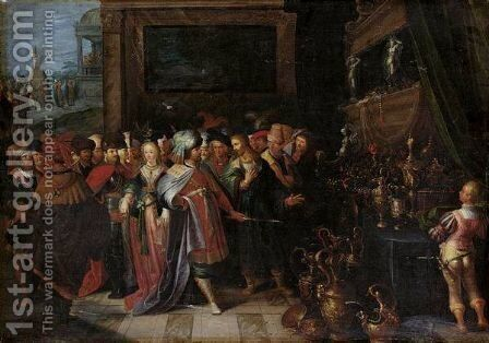 Solon And Croesus by (after) Frans II Francken - Reproduction Oil Painting