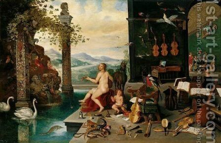 Allegory Of Hearing by Jan, the Younger Brueghel - Reproduction Oil Painting