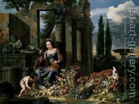 Allegory Of Summer by Jan Pauwel II the Younger Gillemans - Reproduction Oil Painting