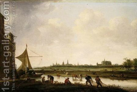 A View Of The City Of Leiden by (after)  Jan Van Goyen - Reproduction Oil Painting