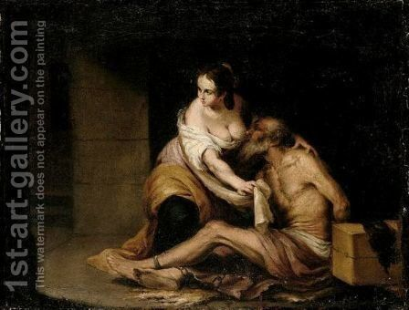 Roman Charity by Bartolome Esteban Murillo - Reproduction Oil Painting