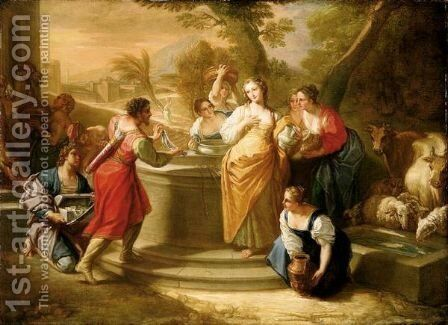 Rebecca At The Well by Benedetto Luti - Reproduction Oil Painting
