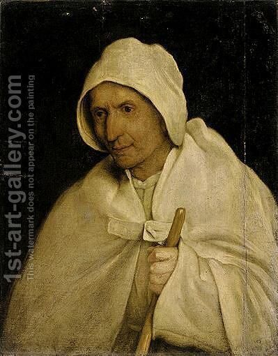 A Study Of A Pilgrim, Half Length, Holding A Staff by (after) Pieter The Elder Bruegel - Reproduction Oil Painting