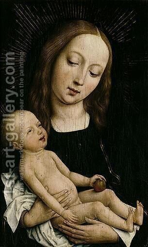 The Virgin And Child With An Apple by - Unknown Painter - Reproduction Oil Painting