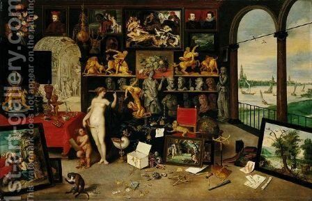 The Sense Of Sight And Touch by Jan, the Younger Brueghel - Reproduction Oil Painting