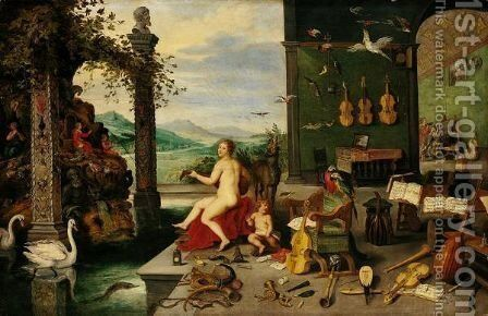The Sense Of Hearing 2 by Jan, the Younger Brueghel - Reproduction Oil Painting