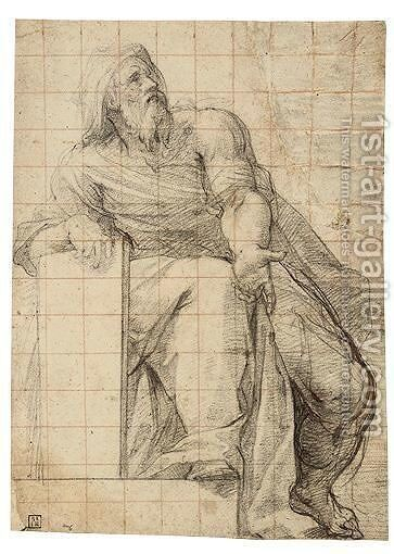 Study For A Seated Prophet by Cristoforo Casolani - Reproduction Oil Painting