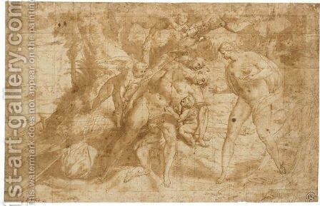 The Death Of Adonis by (after) Lorenzo Sabatini - Reproduction Oil Painting