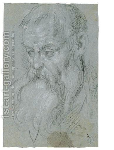 Head Of A Bearded Man by (after) Alessandro Maganza - Reproduction Oil Painting