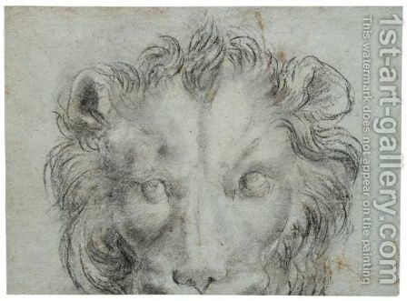 The Head Of A Lion by Annibale Carracci - Reproduction Oil Painting