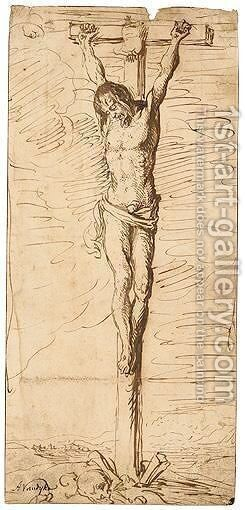 Christ On The Cross by Jacques de Gheyn - Reproduction Oil Painting
