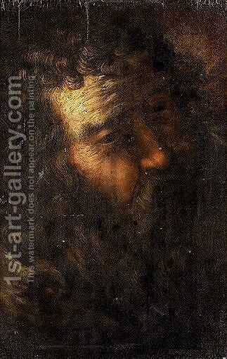 A Head Study Of A Bearded Man, Possibly Saint Joseph by Emilian School - Reproduction Oil Painting