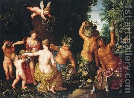 Bacchanale by (after) Hendrik Van Balen, I - Reproduction Oil Painting