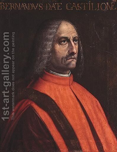 Portrait Of A Man, Head And Shoulders, Said To Be Bernardo Castiglione by Central Italian School - Reproduction Oil Painting