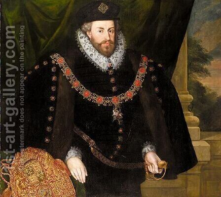 Portrait Of Sir Christopher Hatton (1540-1591) by (after) Marcus The Younger Gheeraerts - Reproduction Oil Painting