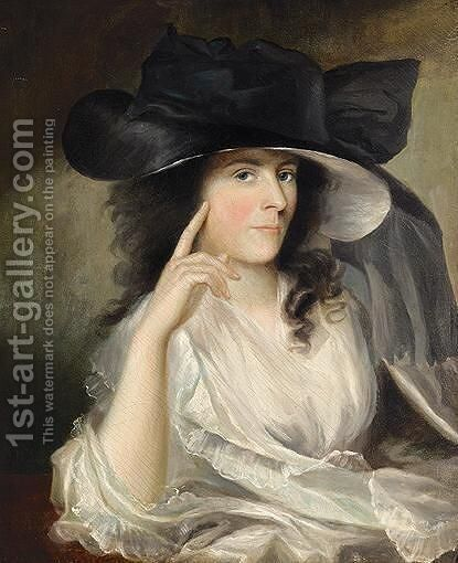 Portrait Of A Lady by (after) Matthew William Peters - Reproduction Oil Painting