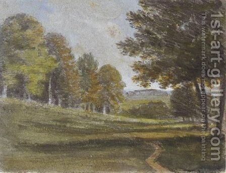 Views In Heathfield Park, East Sussex by Dr. William Crotch - Reproduction Oil Painting