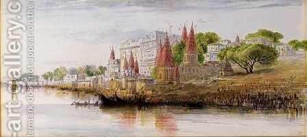 Benares On The Ganges by Edward Lear - Reproduction Oil Painting