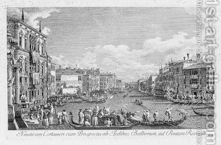 Urbis Venetiarum Plates VIII, XIII, And XIV by (Giovanni Antonio Canal) Canaletto - Reproduction Oil Painting
