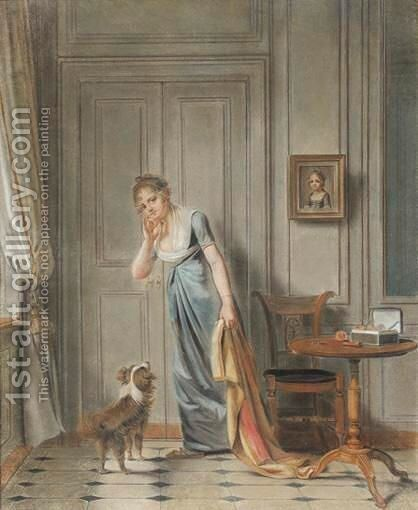 La Mere Attentive by (after) Abraham Van, I Strij - Reproduction Oil Painting