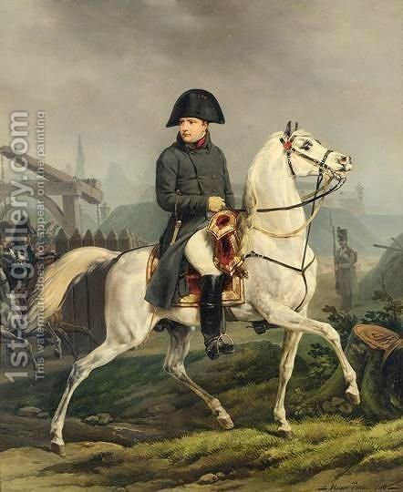 Portrait Equestre De Napoleon 1er by (after) Claude-Joseph Vernet - Reproduction Oil Painting