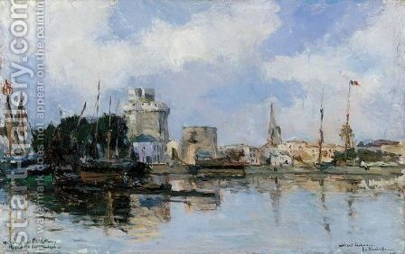 La Rochelle, Le Bassin Du Port, Ciel Tres Lumineux by Albert Lebourg - Reproduction Oil Painting