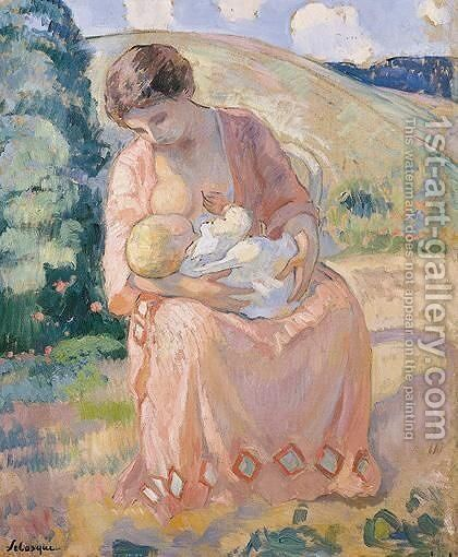 Maternite by Henri Lebasque - Reproduction Oil Painting