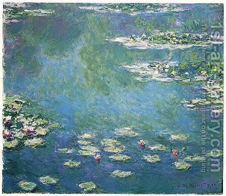 Nympheas 4 by Claude Oscar Monet - Reproduction Oil Painting