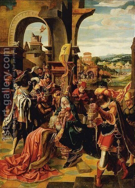 Adoration Of The Magi by Antwerp School - Reproduction Oil Painting