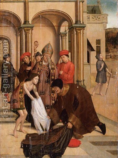 Saint Francis Renouncing The World For The Cloister by (after) Jan Van II Coninxloo - Reproduction Oil Painting