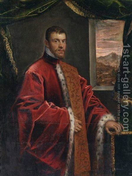 Portrait Of A Venetian Senator by Domenico Tintoretto (Robusti) - Reproduction Oil Painting