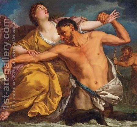 The Slaying Of Nessus By Hercules by Italian School - Reproduction Oil Painting