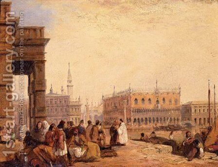 View Of The Doge's Palace From The Dogana, Venice by Edward Pritchett - Reproduction Oil Painting