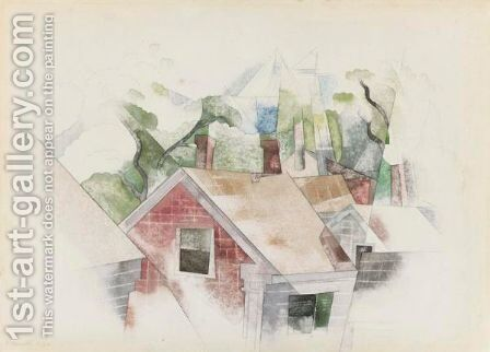 Rooftops by Charles Demuth - Reproduction Oil Painting
